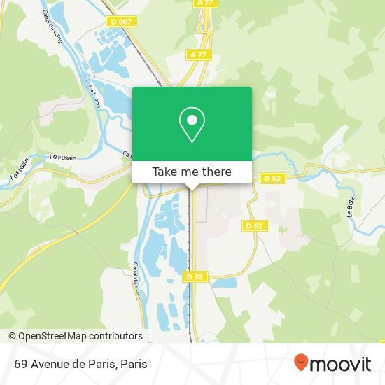 69 Avenue de Paris plan