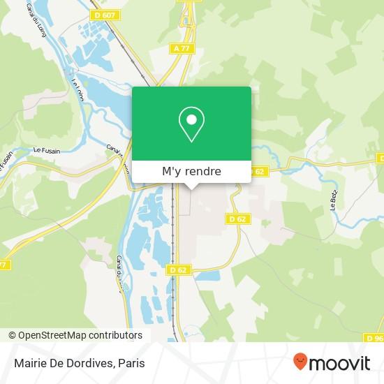 Mairie De Dordives plan