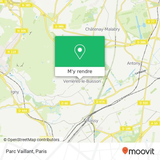 Parc Vaillant plan