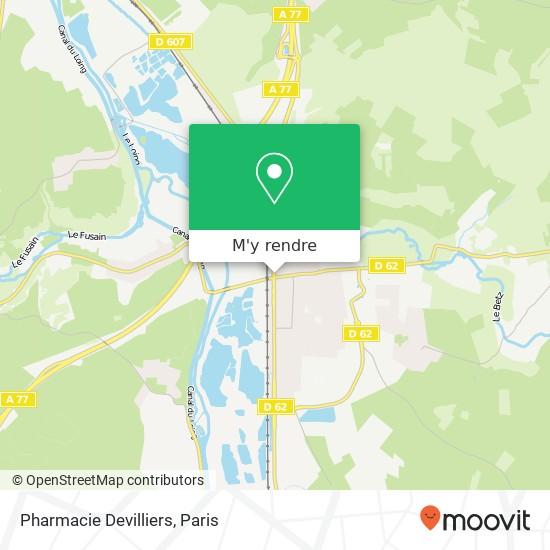 Pharmacie Devilliers plan