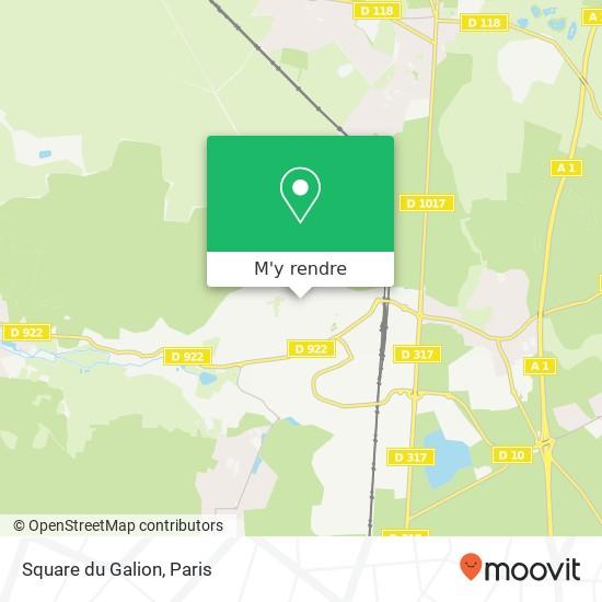 Square du Galion plan