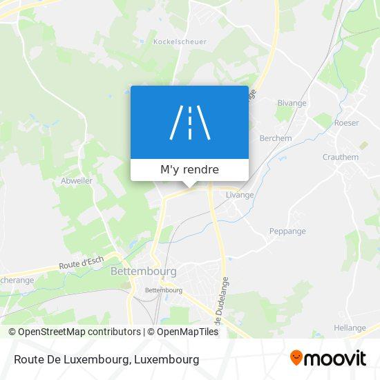 Route De Luxembourg plan