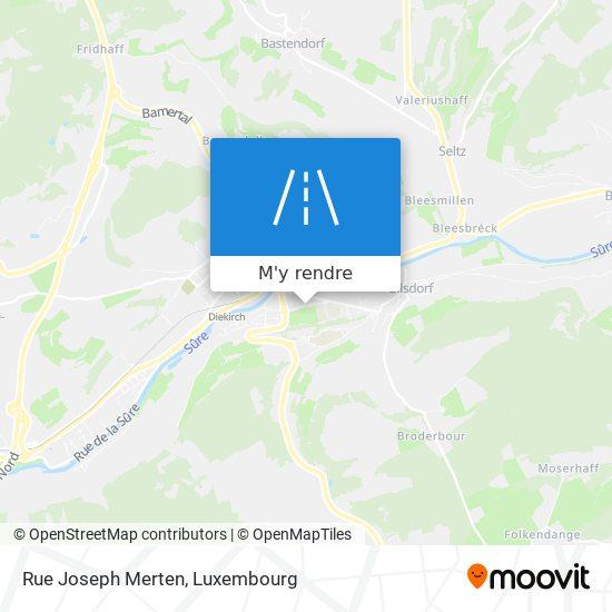 Rue Joseph Merten plan