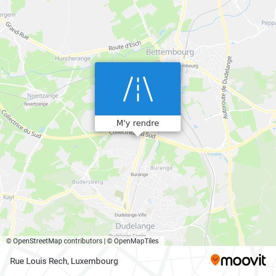 Rue Louis Rech plan