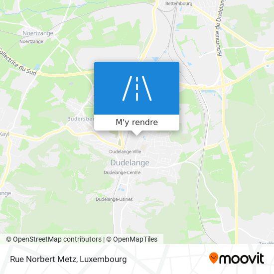 Rue Norbert Metz plan