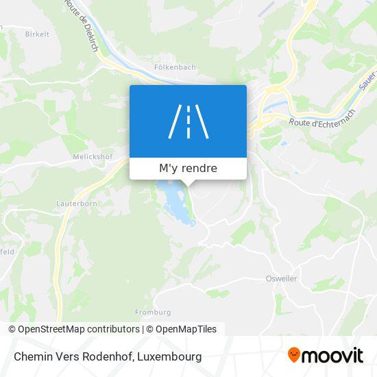 Chemin Vers Rodenhof plan