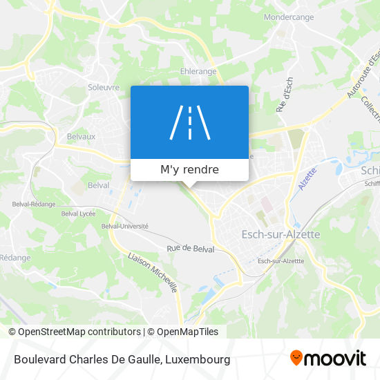Boulevard Charles De Gaulle plan