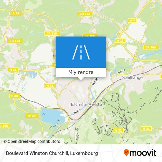 Boulevard Winston Churchill plan