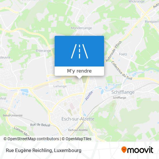 Rue Eugène Reichling plan