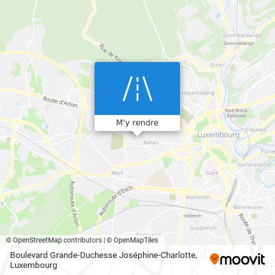 Boulevard Grande-Duchesse Joséphine-Charlotte plan
