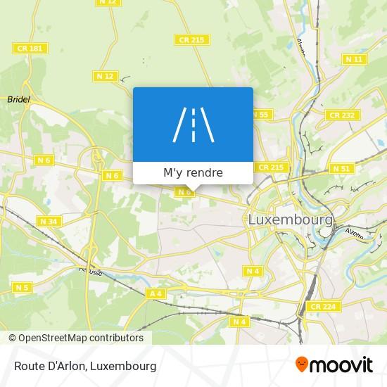 Route D'Arlon plan