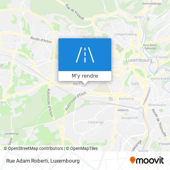 Rue Adam Roberti plan
