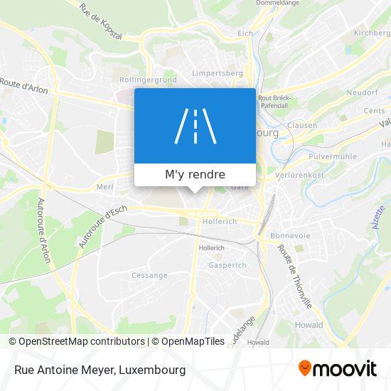 Rue Antoine Meyer plan