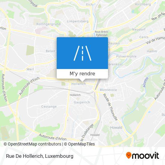 Rue De Hollerich plan