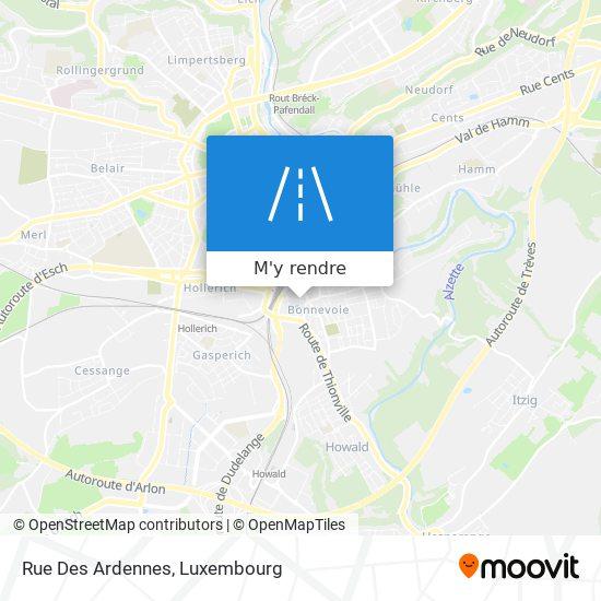 Rue Des Ardennes plan
