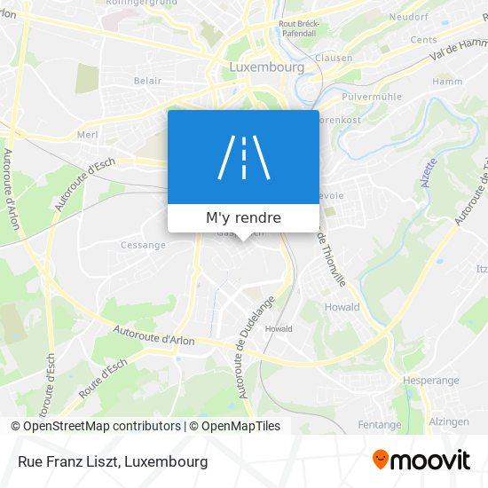 Rue Franz Liszt plan
