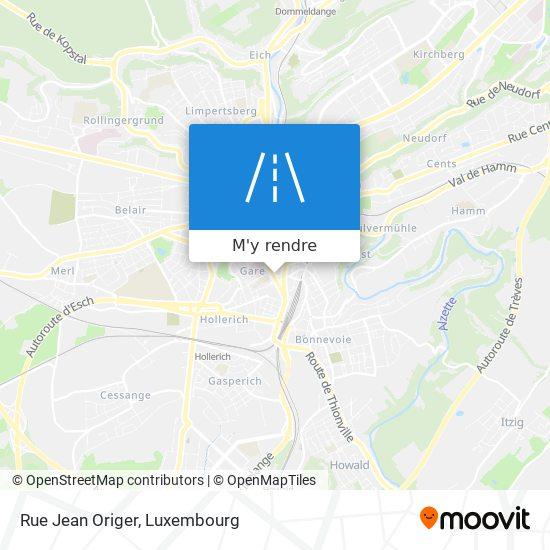Rue Jean Origer plan