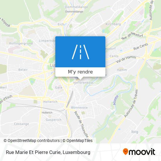 Rue Marie Et Pierre Curie plan