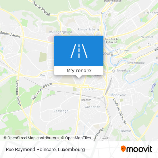 Rue Raymond Poincaré plan