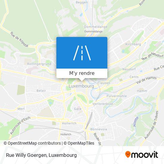 Rue Willy Goergen plan