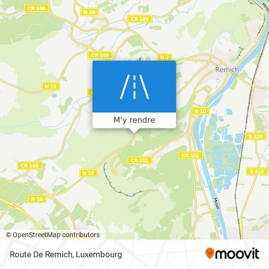 Route De Remich plan