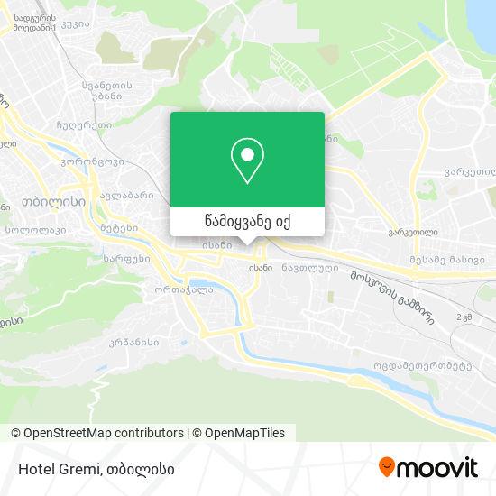 Hotel Gremi რუკა