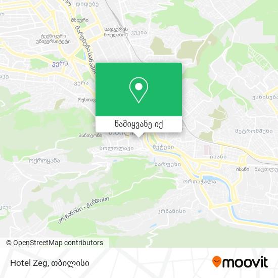 Hotel Zeg რუკა