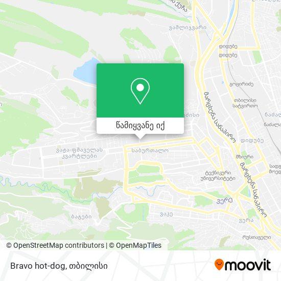 Bravo hot-dog რუკა
