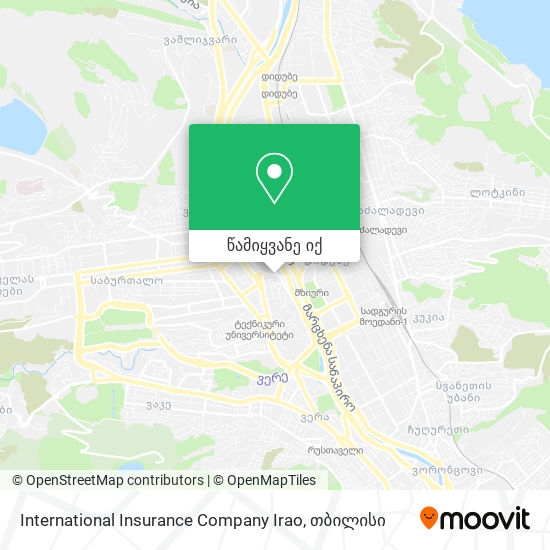 International Insurance Company Irao რუკა