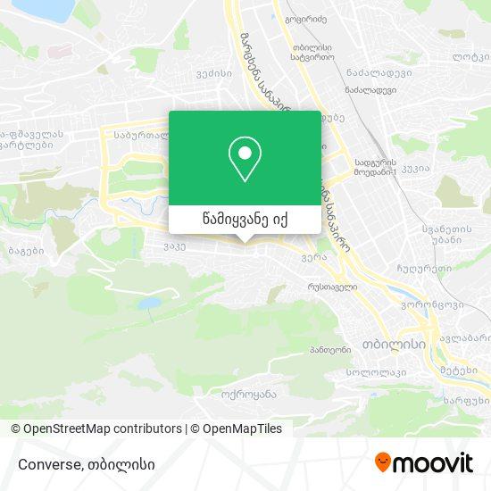 Converse რუკა