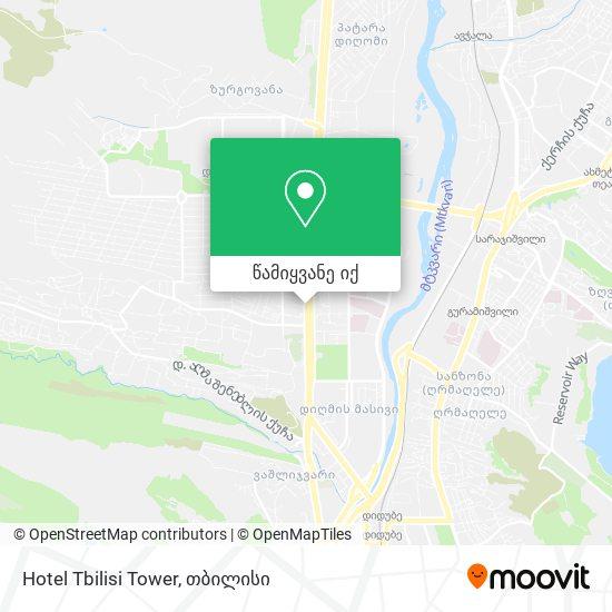Hotel Tbilisi Tower რუკა