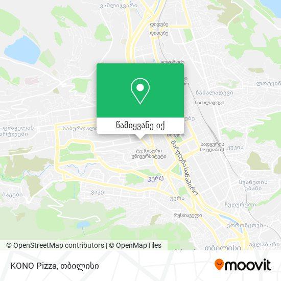 KONO Pizza რუკა