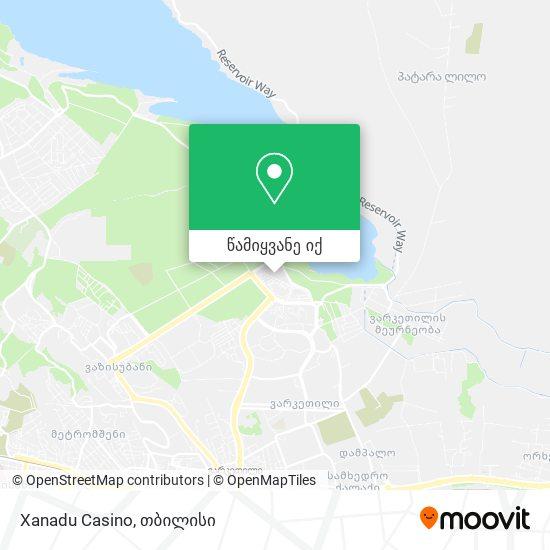 Xanadu Casino რუკა
