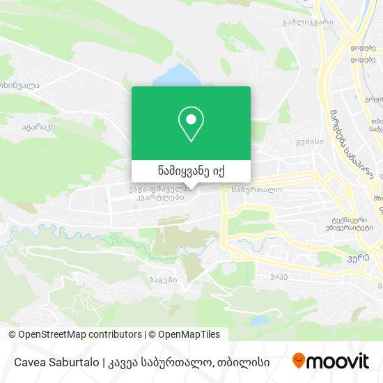 Cavea Saburtalo   კავეა საბურთალო რუკა