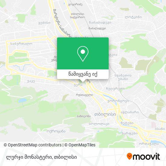 ლურჯი მონასტერი რუკა