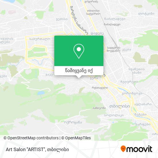 Art Salon ''ARTIST'' რუკა