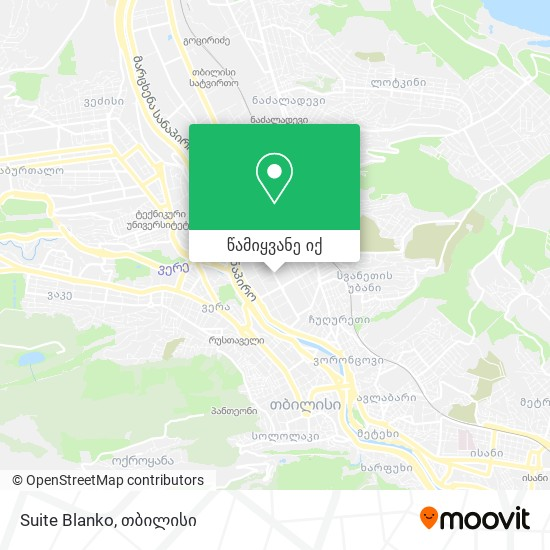 Suite Blanko რუკა