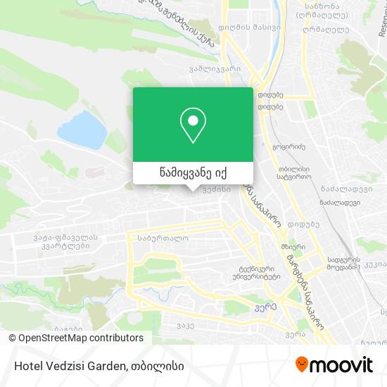 Hotel Vedzisi Garden რუკა