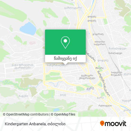 Kindergarten Anbanela რუკა