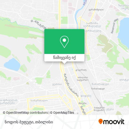 ნოდოს ბუფეტი რუკა