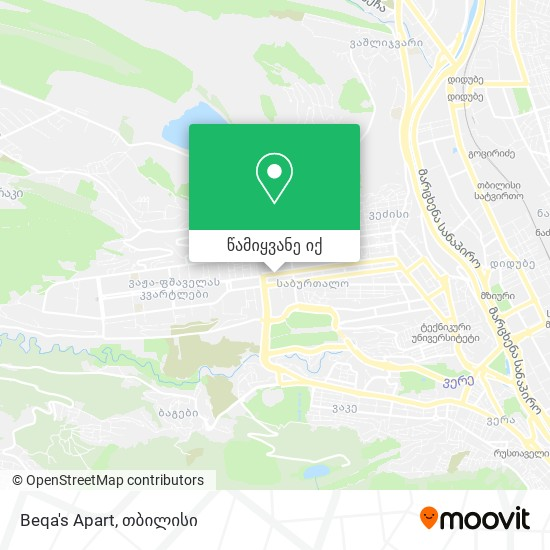 Beqa's Apart რუკა