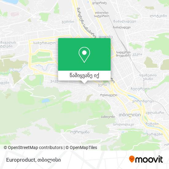 Europroduct რუკა