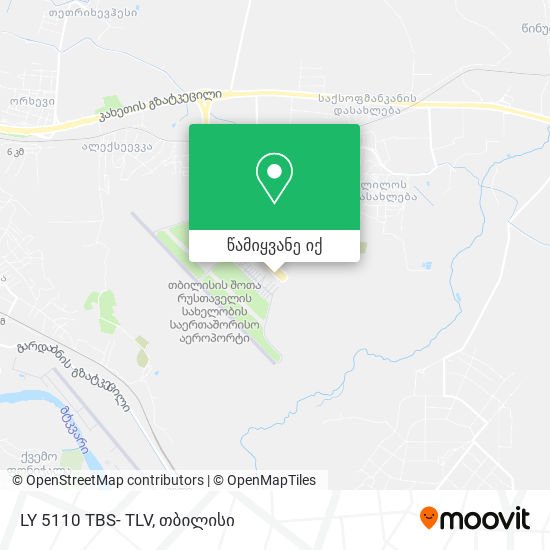 LY 5110 TBS- TLV რუკა