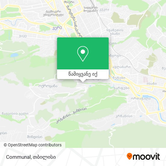 Communal რუკა