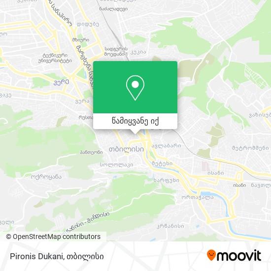 Pironis Dukani რუკა