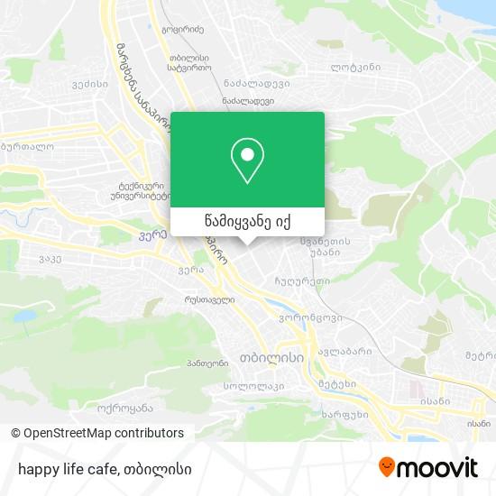 happy life cafe რუკა
