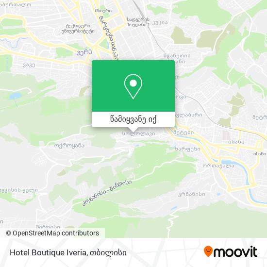 Hotel Boutique Iveria რუკა