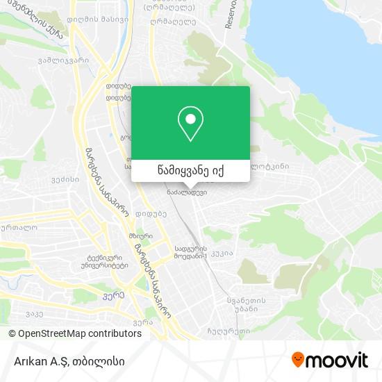 Arıkan A.Ş რუკა