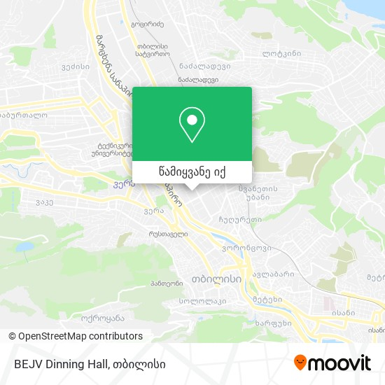 BEJV Dinning Hall რუკა