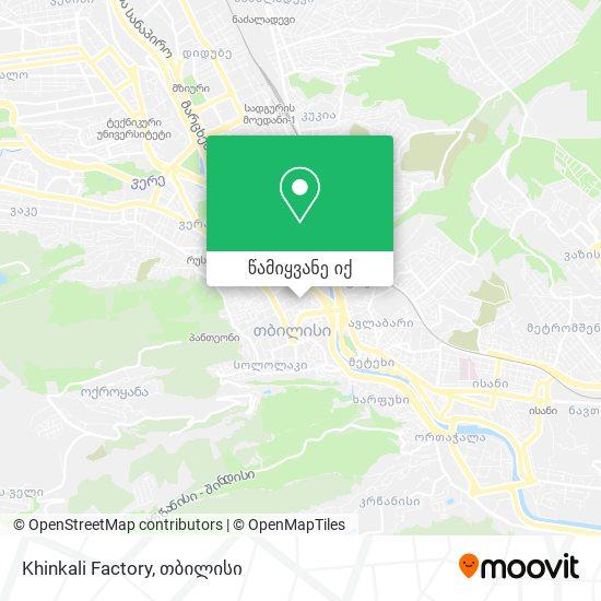 Khinkali Factory რუკა
